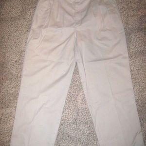 HAGGAR CASUALS Light Tan 4 Pocket Pants 34 X 28